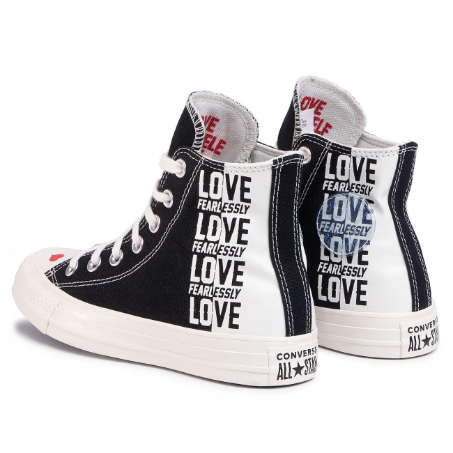 Sneakers CONVERSE - Ctas Hi 567309C Black/Egret/Uuniversity Red - Baskets - Chaussures basses