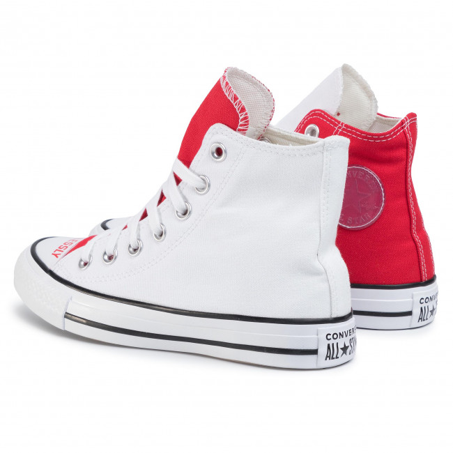 Sneakers CONVERSE - Ctas Hi 567310C White/University Red/Black  - Baskets - Chaussures basses